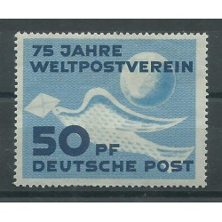1949 GERMANIA DDR 75 ANNIVERSARIO DELL'UPU COLOMBA E GLOBO 1 V MNH MF26546
