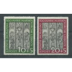 1951 GERMANIA FEDERALE 7 CENT CATTEDRALE DI LUBECCA 2 V MNH MF26500