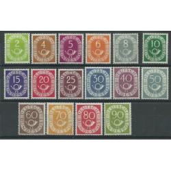 1951-52 GERMANIA FEDERALE SERIE CIFRA E CORNO DI POSTA 16 V MNH MF26554