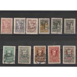 1920 LITUANIA LIETUVA  ASSEMBLEA NAZIONALE 11 VALORI USATI MF52690