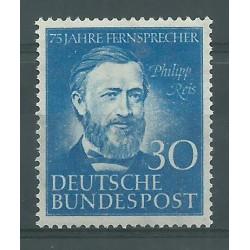 1952 GERMANIA FEDERALE 75 ANN TELEFONO PHILIPP REIS MNH MF26540