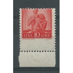 1945 REPUBBLICA ITALIA L 10 ARANCIO DEMOCRATICA VARIETA DENT SPOSTATA MLH MF26722