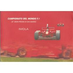 2000 ITALIA REPUBBLICA FOLDER CAMPIONATO DEL MONDO DI F1 IMOLA MF26844
