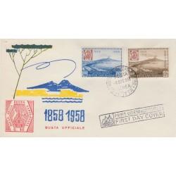 1958 FDC RE.RU SAN MARINO FRANCOBOLLI DI NAPOLI NON VIAGGIATA MF52049