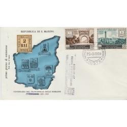 1959 FDC  SAN MARINO FRANCOBOLLI DELLE ROMAGNE  NON VIAGGIATA MF52948