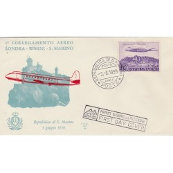 1959 FDC ALA   SAN MARINO RIMINI LONDRA NON  VIAGGIATA MF52930