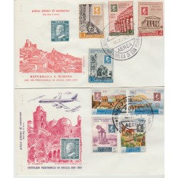1959  FDC  SAN MARINO SICILIA 2 BUSTE NON VIAGGIATE MF52928