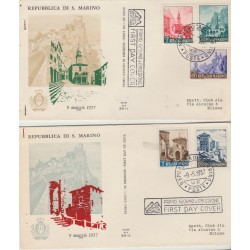 1957 FDC ALA SAN MARINO VEDUTE 2 BUSTE NON VIAGGIATE  MF52926