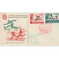 1955 FDC ALA SAN MARINO L.250 GINNASTA MF52937