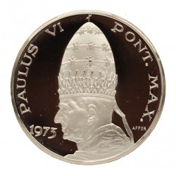 MEDAGLIA COMMEMORATIVA PAPALE PAPA PAULUS VI 1975 ARGENTO SILVER 925 MF26753