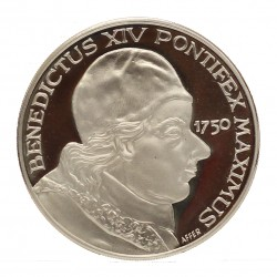 MEDAGLIA COMMEMORATIVA PAPALE PAPA BENEDICTUS XIV 1750 ARGENTO SILVER 925 MF26757
