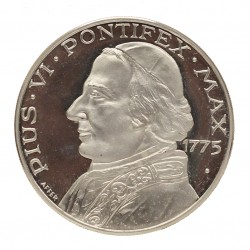 MEDAGLIA COMMEMORATIVA PAPALE PAPA PIUS VI 1775 ARGENTO SILVER 925 MF26804