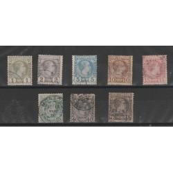 1885 MONACO EFFIGIE CARLO III  8  VAL USATI UNIFICATO N 1/8 MF52905