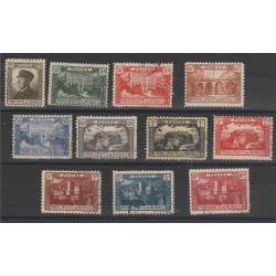 1922 MONACO  EFFIGIE E VEDUTE 11 VAL USATI MF52736