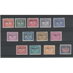 1949 - 1954 TRIESTE A SERIE SEGNATASSE 13 VAL MNH  MF52730