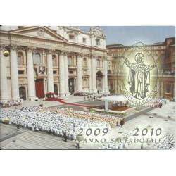 2010 VATICANO 2 EURO ANNO SACERDOTALE BUSTA FILATELICO NUMISMATICA FDC