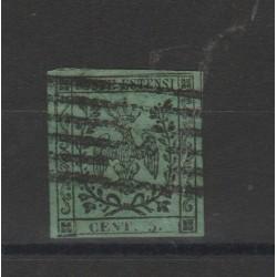 DUCATO DI MODENA 1853 5 CENT VERDE  SASSONE N 7  USATO  MF52837