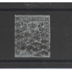 DUCATO DI MODENA 1857 MARCA PER GIORNALI 10 CENT GRIGIO SASSONE N 4 USATO  MF52888