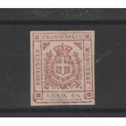DUCATO DI MODENA 1859 GOVERNO PROVVISORIO 40 CENT ROSA CARM  N 17  MLH SORANI  MF52781