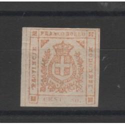 DUCATO DI MODENA 1859 GOVERNO PROVVISORIO 80 CENT BISTRO  N 18  MLH SORANI  MF52780