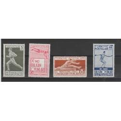 1952 TURCHIA TURKIYE  NASCITA DEL POETA HAMID TARHAN 4 VAL  UNIF1140- 43  MNH MF50752