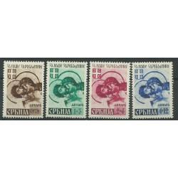 1941 JUGOSLAVIA EM PROVVISORIA SERBIA PRO PRIGIONIERI 4 V MNH n. 35/38 MF26704