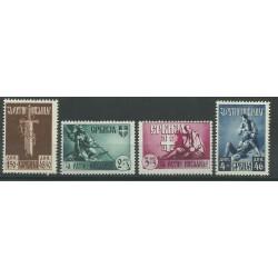 1943 JUGOSLAVIA EM PROVVISORIA SERBIA PRO INVALIDI 4 V MNH n.68/71 MF26837