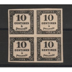 1859  FRANCIA FRANCE  SEGNATASSE CIFRA AL CENTRO QUARTINA  MNH  MF52970