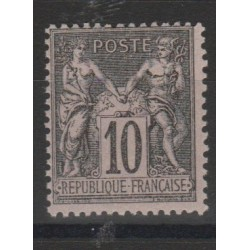 1877 - 80 FRANCIA FRANCE SAGE II TIPO  UNIF N 89 -1VAL MLH MF52971