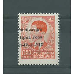 1941 MONTENEGRO OCCUPAZIONE ITALIANA SOPR. 17-IV 41 XIX 14 VAL MISTI MF52470