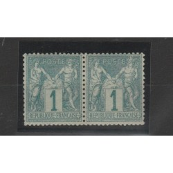 1876- 81 FRANCIA FRANCE SAGE I TIPO  UNIF N 61 -1 COPPIA  MLH MF52995