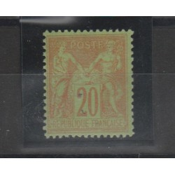 1884 -90 FRANCIA FRANCE SAGE II TIPO  UNIF N 96 -1 VAL MLH MF52997
