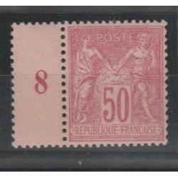 1884 -90 FRANCIA FRANCE SAGE II TIPO UNIF N 98 -1 VAL MLH MF52996