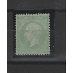 1862 FRANCIA EMPIRE NAPOLEONE III 5c. VERDE  UNIF N 20  MLH FIECCHI  MF53006