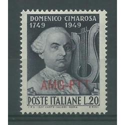 1949 TRIESTE A BICENTENARIO NASCITA CIMAROSA 1 VAL MNH MF26990