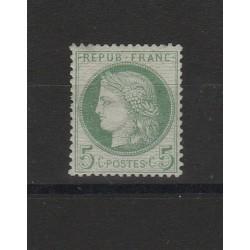 1871-75   5 c.  FRANCIA   YVERT N° 51 UN VAL MLH  MF53032