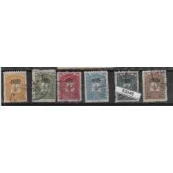 1905TURCHIA TURKIYE STAMPE 6  VAL UNIF 29/34 USATI MF53048