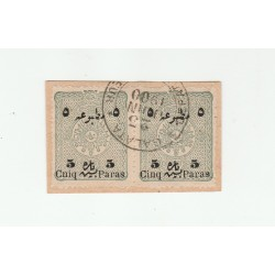 1894  TURCHIA TURKIYE  VARIETA' STAMPE SOPRASTAMPATE  COPPIA  UNIF 16A USATIA MF53034