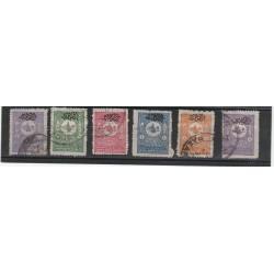 1901 TURCHIA TURKIYE STAMPE 8 VAL UNIF 17/22 USATI MF53045