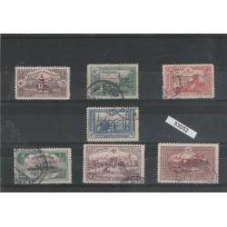 1914 TURCHIA TURKIYE  CAPITOLAZIONI  7 VAL UNIF 200/06 USATI MF53052