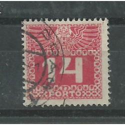 1913 AUSTRIA OSTERREICH SEGNATASSE COMPLEMENTARE 14 H 1 VAL USATO MF26973