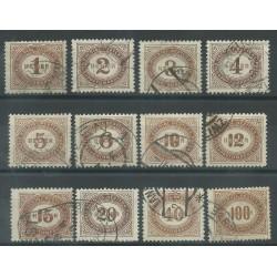 1900 AUSTRIA OSTERREICH SEGNATASSE IN HELLER DENT. 12 1/2 - 12 V USATI MF27025