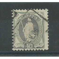 1904 SVIZZERA ALLEGORIA 40 c GRIGIO 1 VAL  MNH UNIF N 92 MF16803