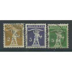 1909 SVIZZERA HELVETIA WALTER TELL CORDA AVANTI 3 VAL USATI MF26923