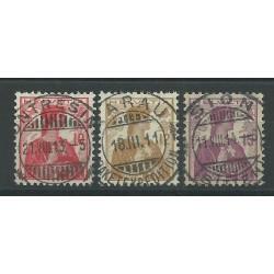 1909 SVIZZERA HELVETIA HELVETIA NUOVO TIPO 3 VAL USATI UNI 131-33 MF26976