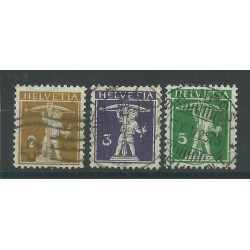 1910 / 1911 SVIZZERA HELVETIA WALTER TELL CORDA DIETRO 3 VAL USATI MF26925