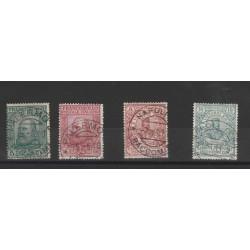 1910 REGNO SERIE  PLEBISCITO SUD ITALIA GARIBALDI 4 VALORI USATI MF53103