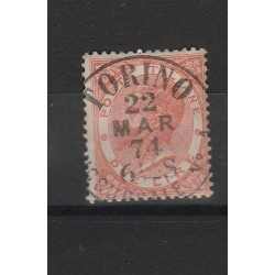 1863 REGNO  VITTORIO EMANUELE II TIRATURA TORINO  2 LIRE USATO 1VAL  MF53117
