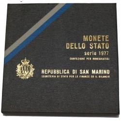 1977 SAN MARINO DIVISIONALE ECOLOGIA 9 MONETE FDC MF24455