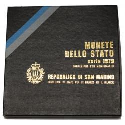 1979 SAN MARINO DIVISIONALE ORGANI DELLO STATO 9 MONETE FDC MF24457